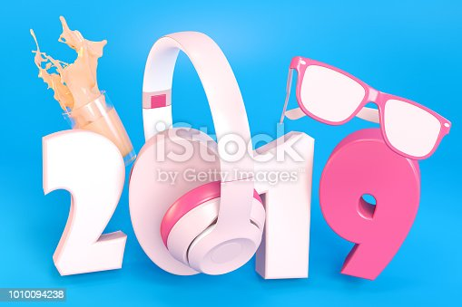 istock 2019 Text with Accesorries on Blue Background 1010094238