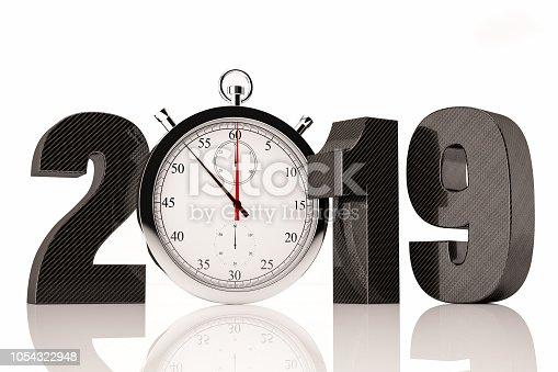 1033275118 istock photo 2019 Text with Chronometer 1054322948