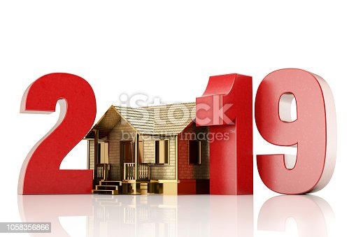 istock 2019 Text with House. Home Ownership Concept 1058356866