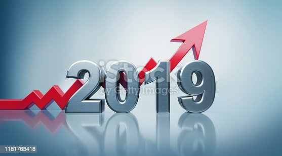 istock 2019 Text with Red Arrow Moving Up on Defocused Background 1181763418