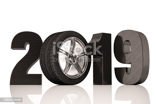 1033275118 istock photo 2019 Text with Tire. Car Sales Concept 1053424434
