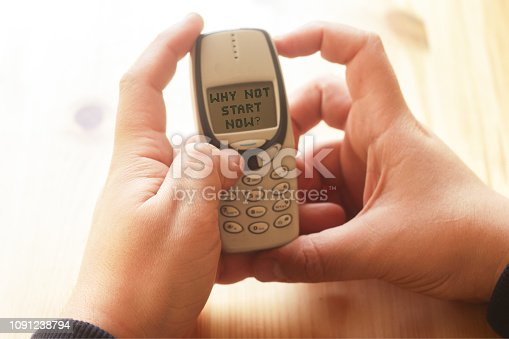 istock text writing Why Not Start Now. Concept 1091238794