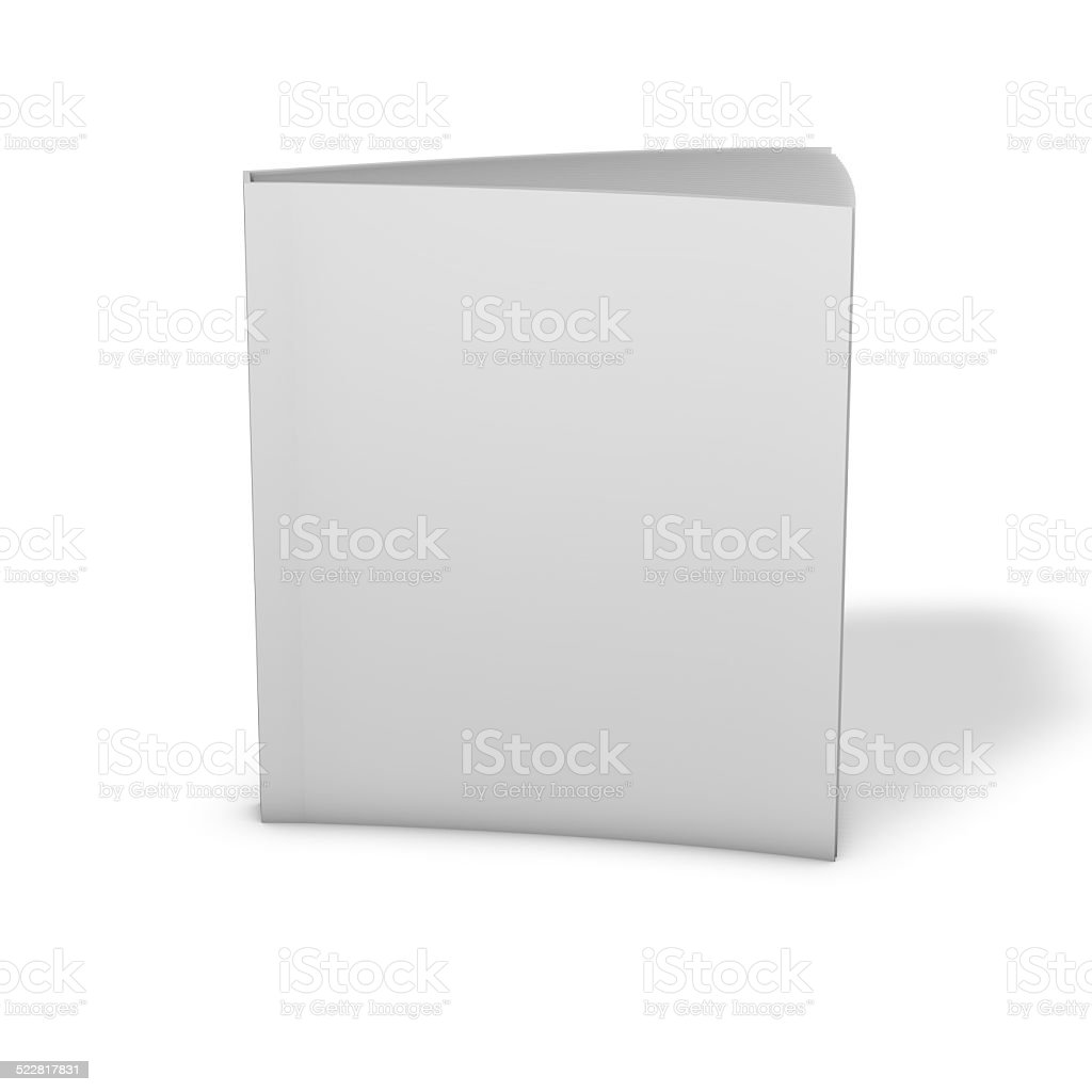 Textbook standing, 3d render with shadow, isolated on white. stock photo