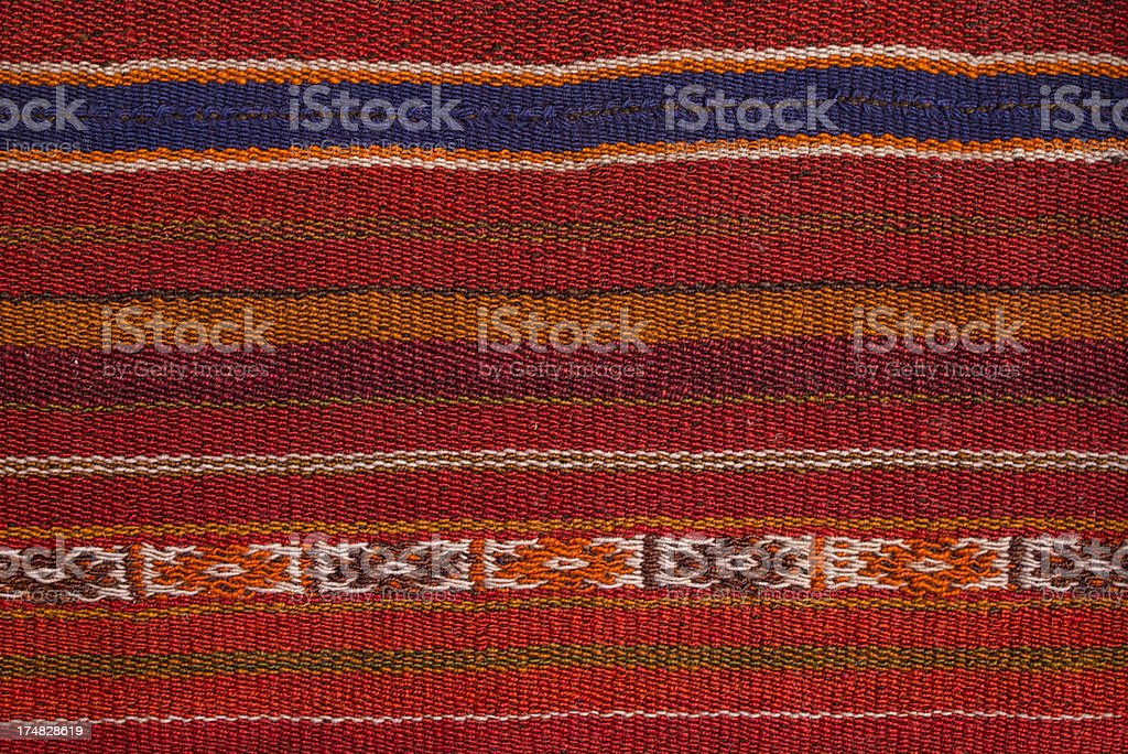 Textile Background with Latin American Pattern royalty-free stock photo