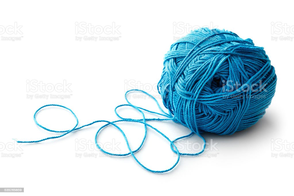 Textile: Ball of Wool stock photo