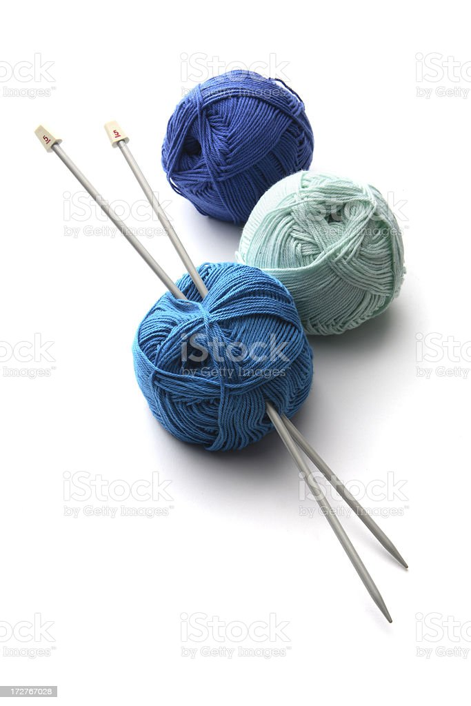 Textile: Blue Wool royalty-free stock photo