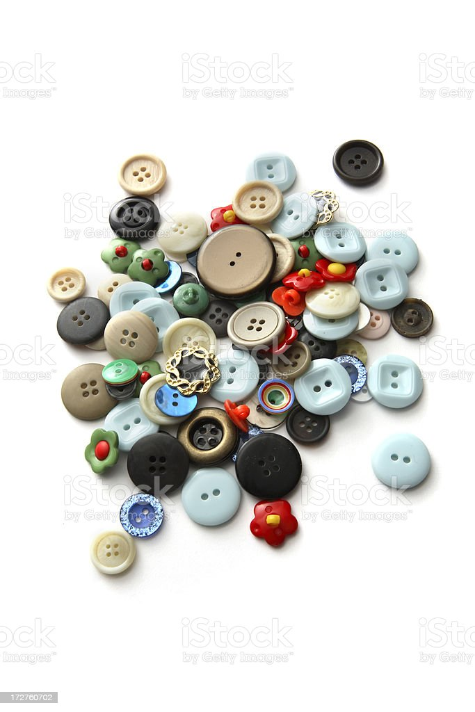 Textile: Buttons royalty-free stock photo