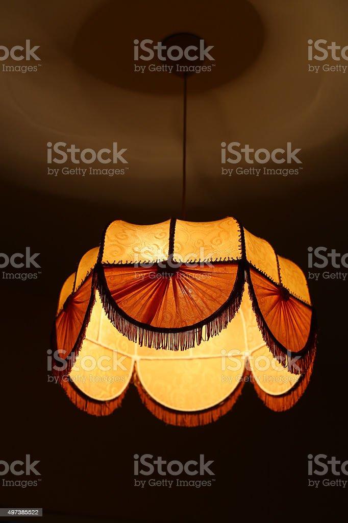 textile chandelier stock photo