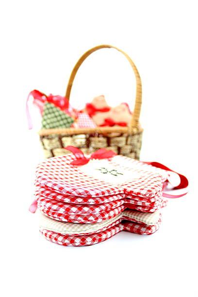Textile christmas decoration stock photo