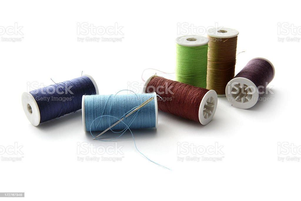Textile: Coils of Colored Thread royalty-free stock photo