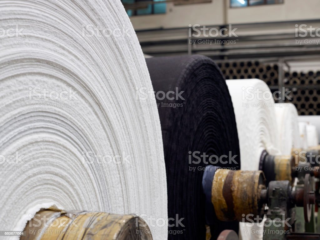 textile factory detail stock photo