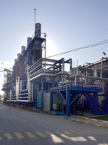 Textile FactoryTextile Factory on blue sky background.