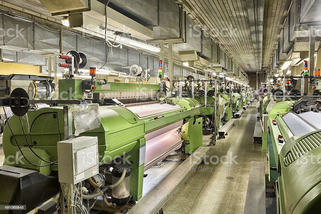 Textile Factory stock photo