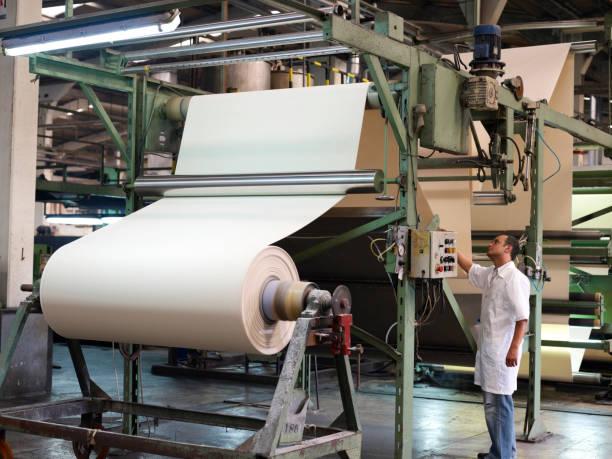 textile factory - papierrollen stock-fotos und bilder
