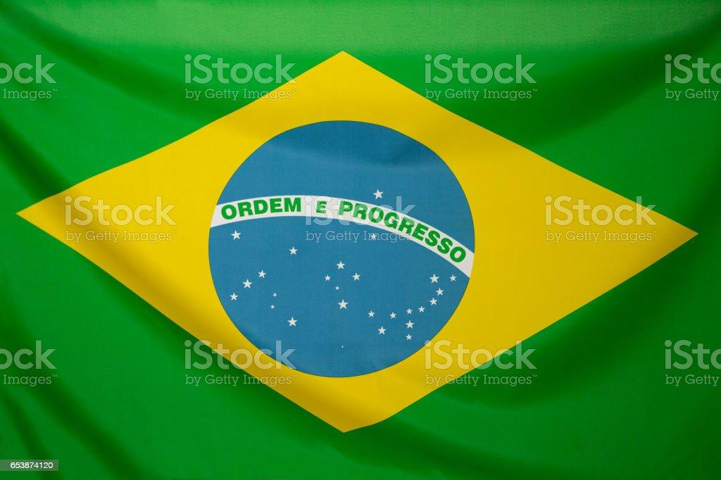 Textil-Flagge von Brasilien – Foto