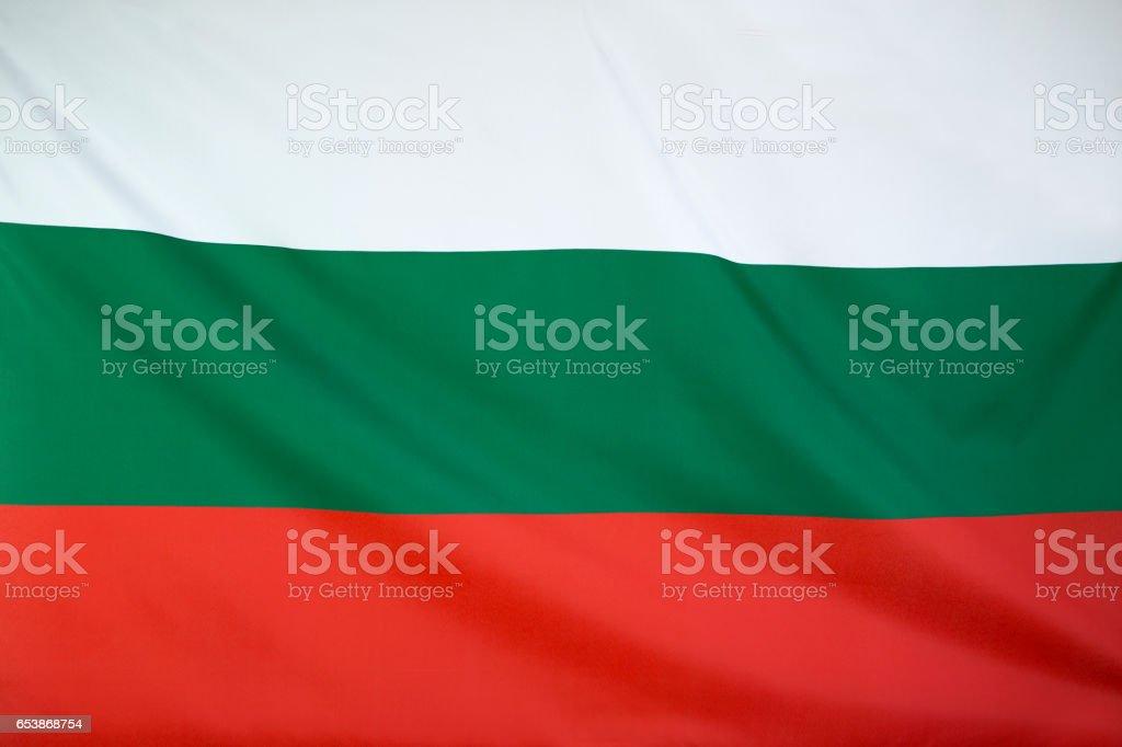 Textile flag of Bulgaria stock photo