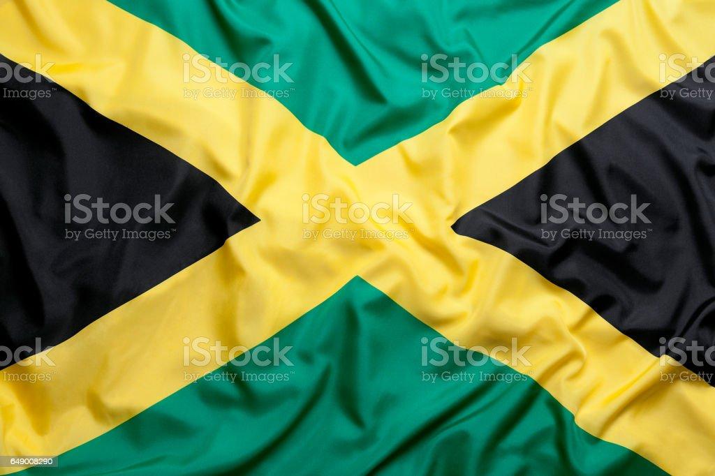 Bandeira de têxteis da Jamaica - foto de acervo