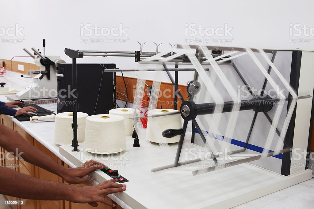 Textile Industry - Laboratory royalty-free stock photo