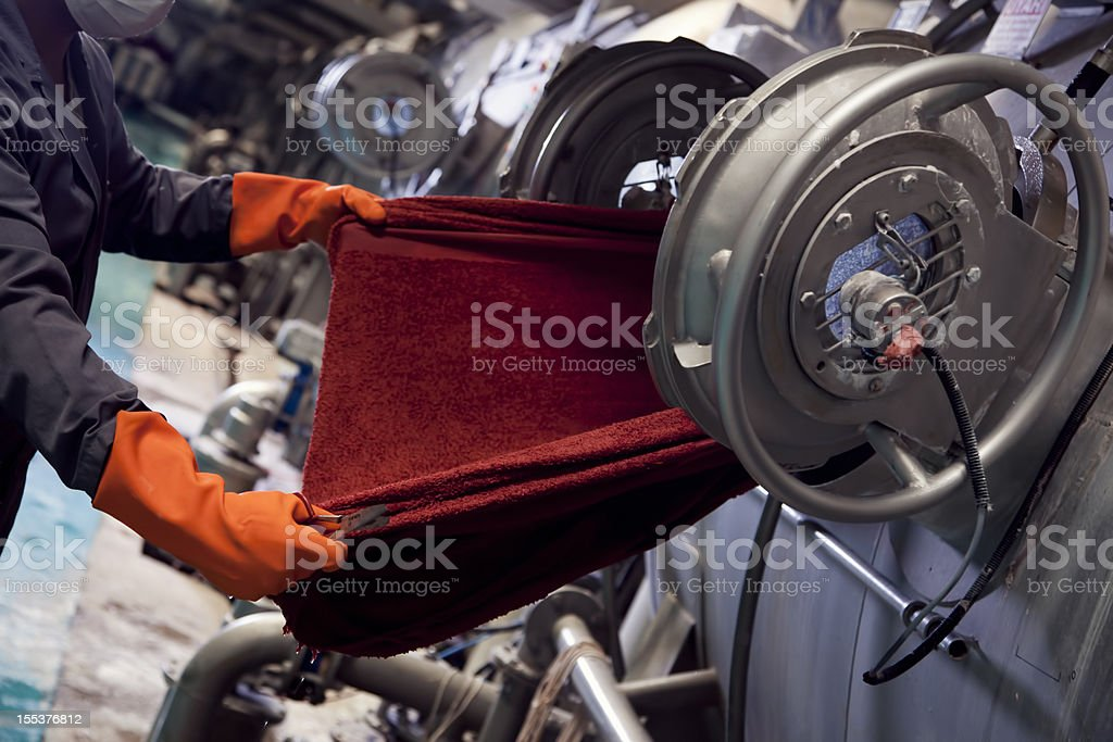 Textile Industry royalty-free stock photo
