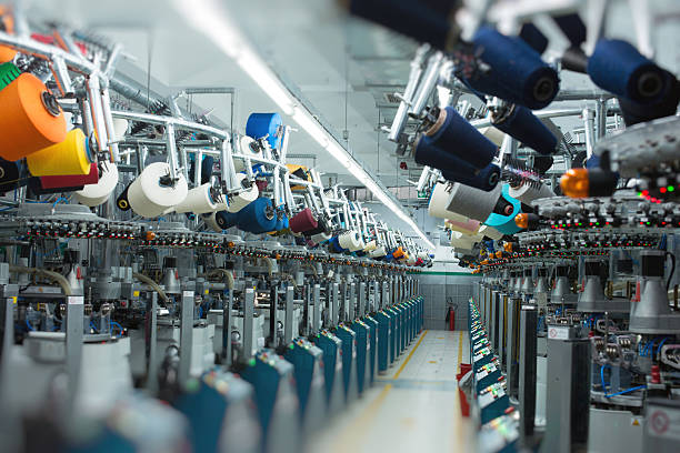 Textile industry - Sock stock photo