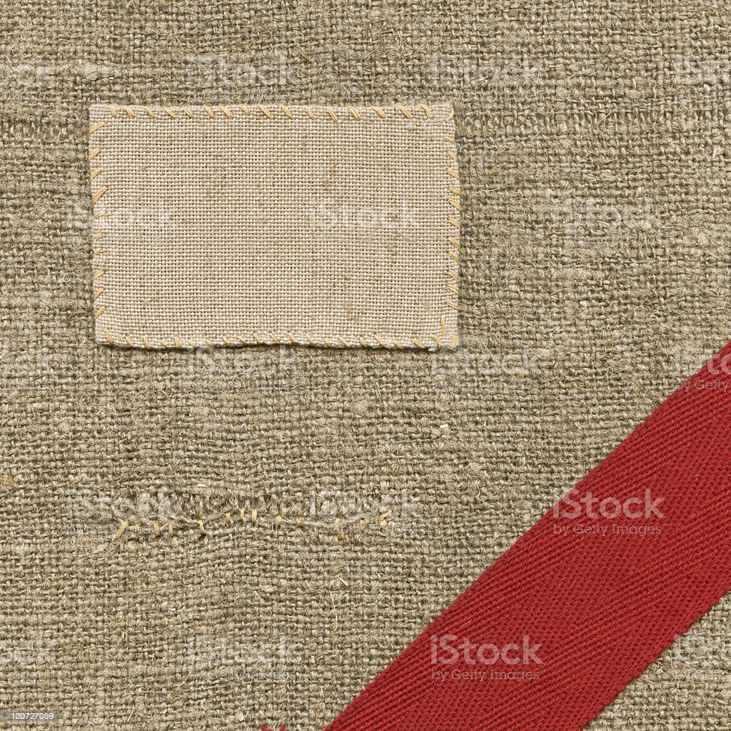 Textile label royalty-free stock photo