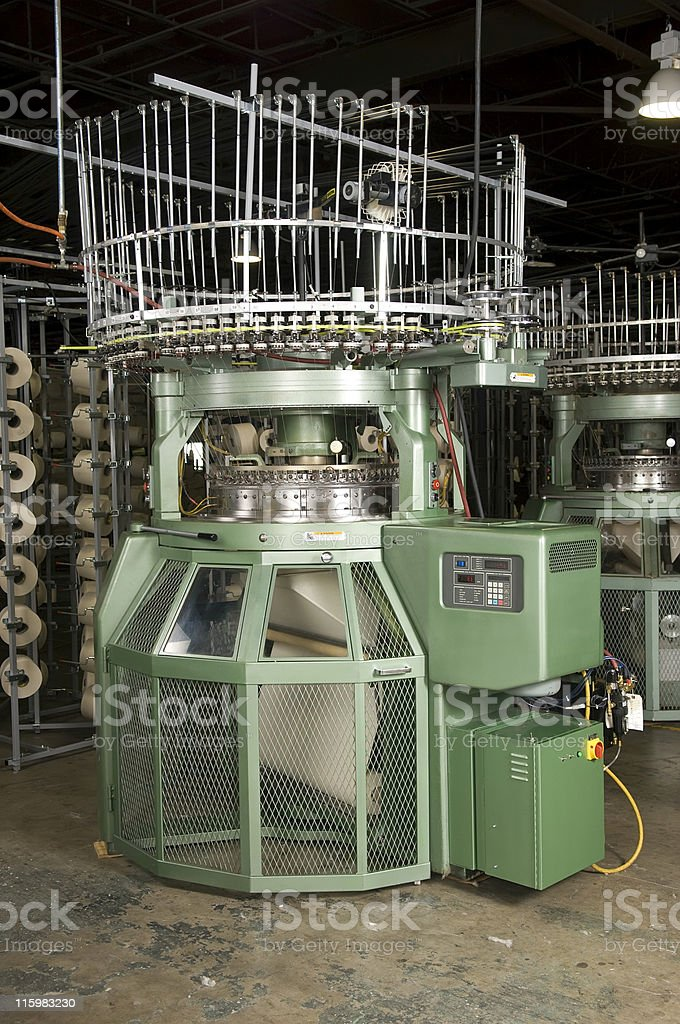 Textile Machinery royalty-free stock photo