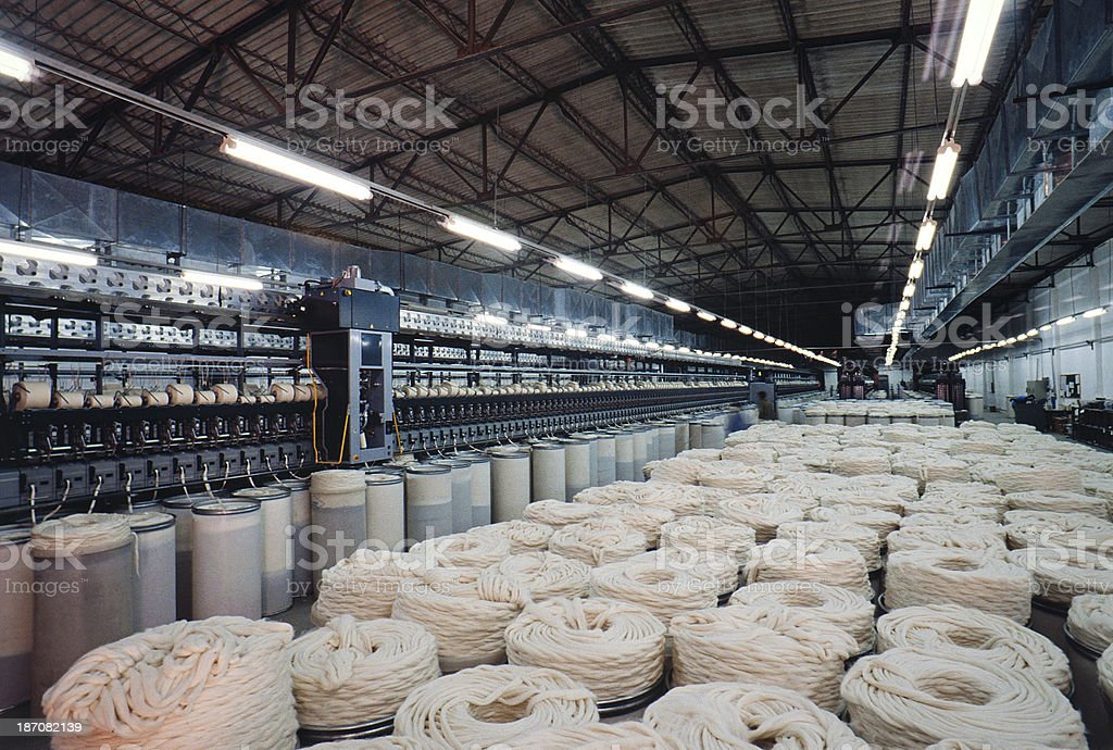 Textile Machinery stock photo