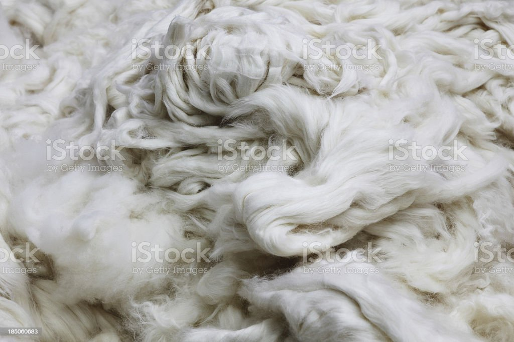 Textile Mill - Contamination Free Processed Organic Cotton background stock photo