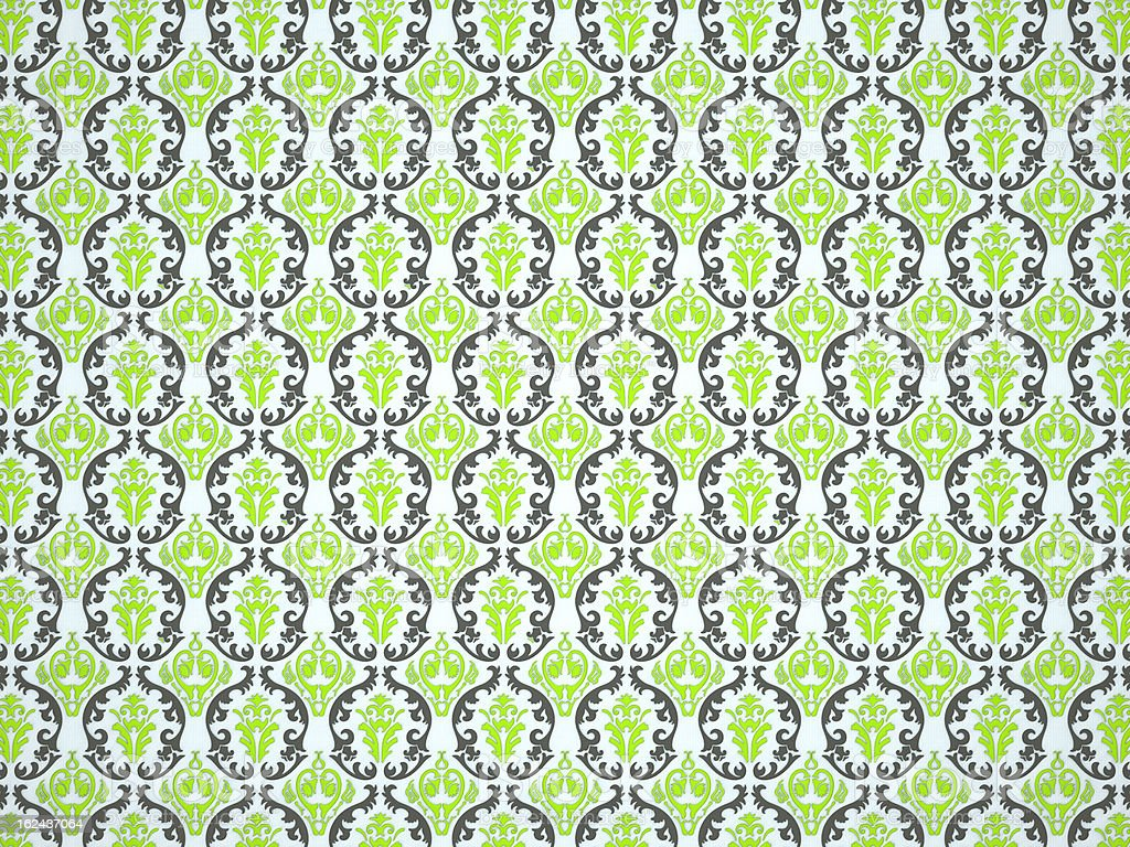 Textile or cloth with ornamental victorian pattern royalty-free stock photo