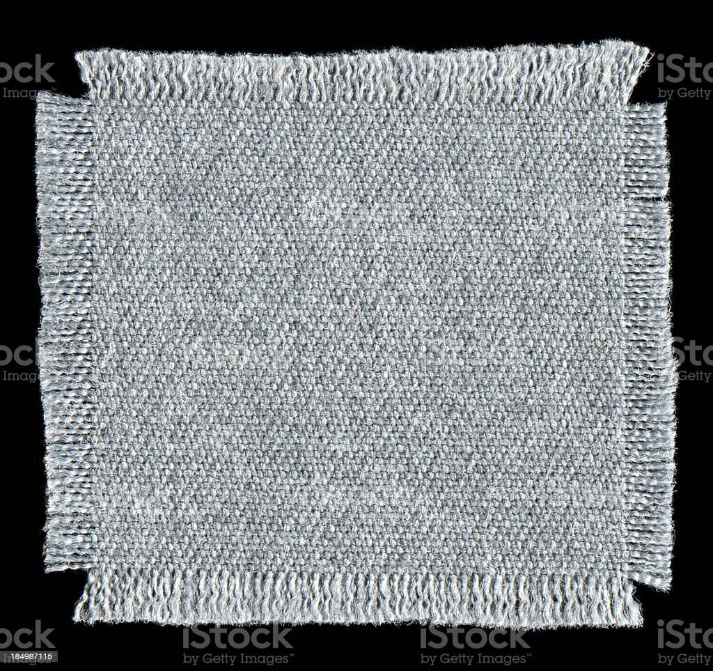 Textile patch textured background isolated royalty-free stock photo
