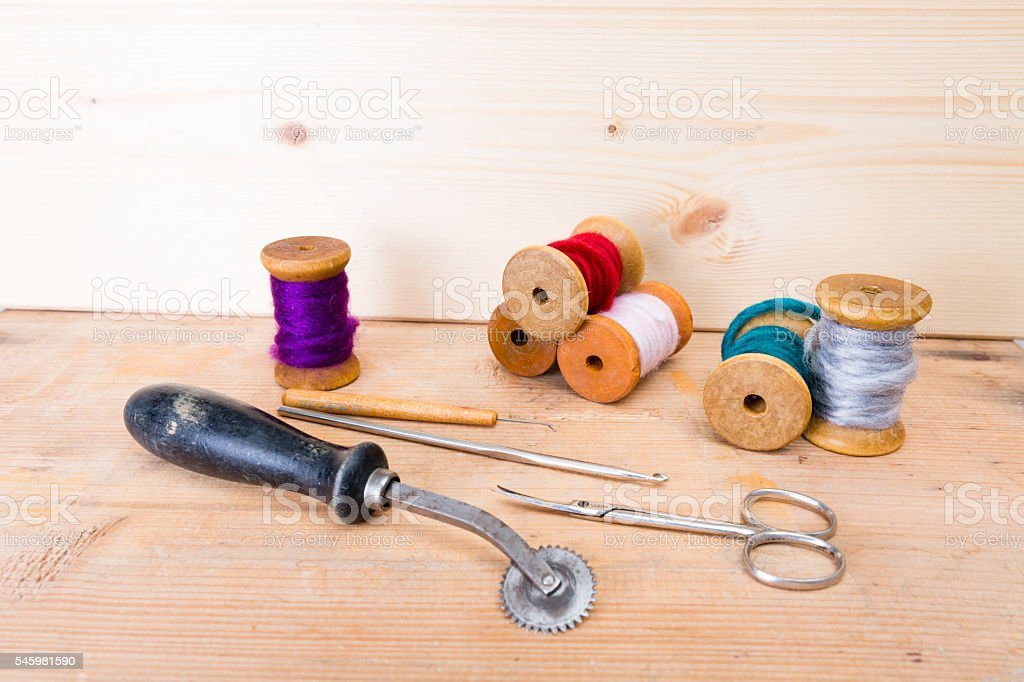 textile processing stock photo