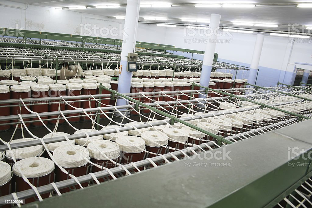 Textile Production - Spinning stock photo