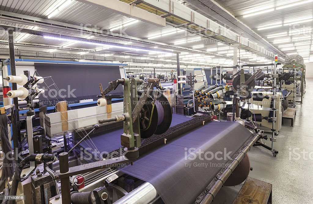 Textile Production - Weaving stock photo