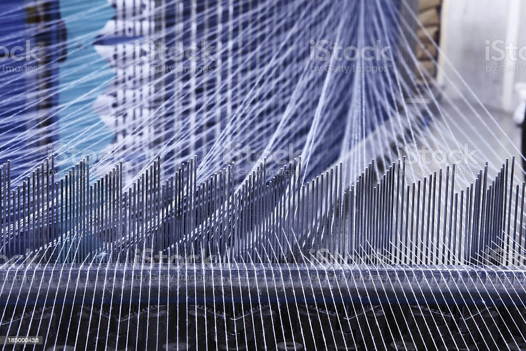 Textile Production - Weaving XXXL stock photo