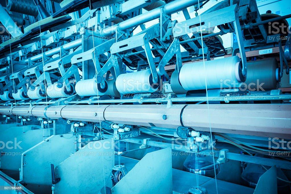 Textile production workshop stock photo
