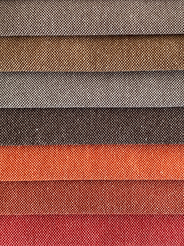 Color variation of fabric samples