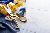 istock Textile: Sewing Items Still Life 1137543949
