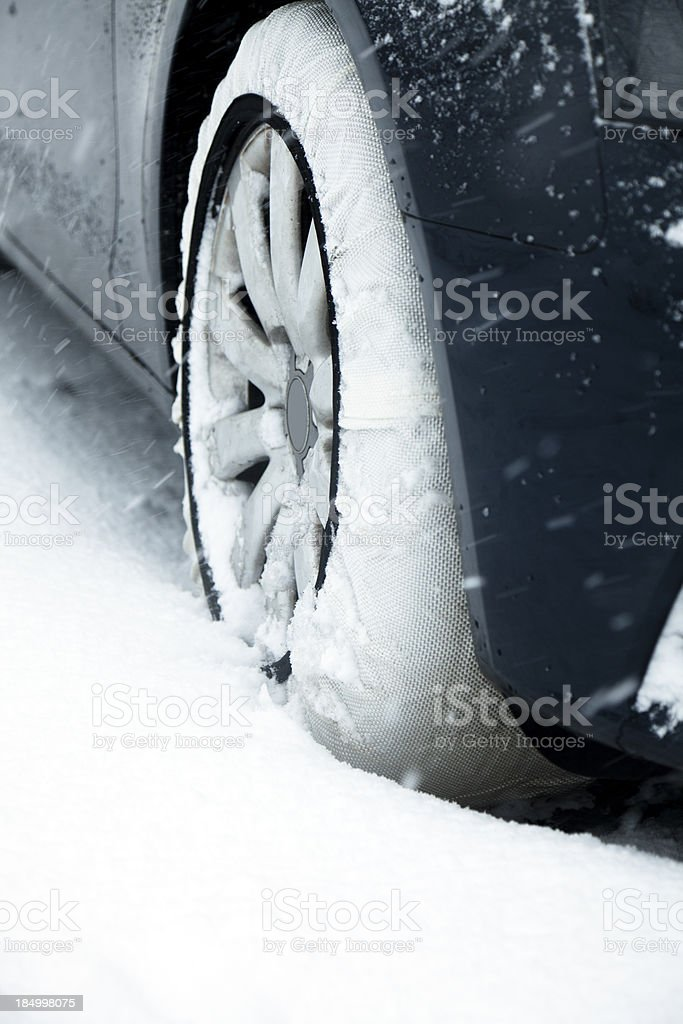 Textile snow chains royalty-free stock photo