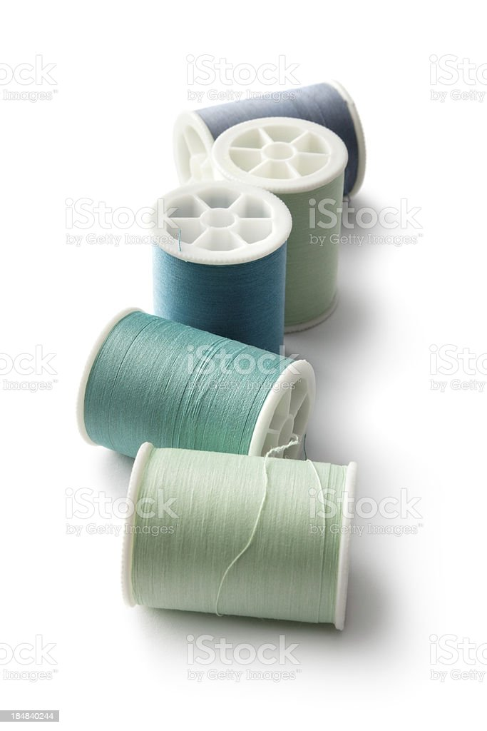 Textile: Spools and Sewing Thread royalty-free stock photo