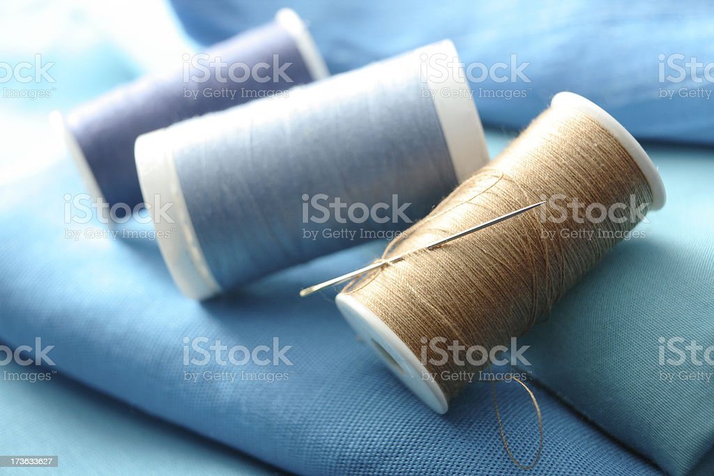 Textile: Spools of Thread royalty-free stock photo