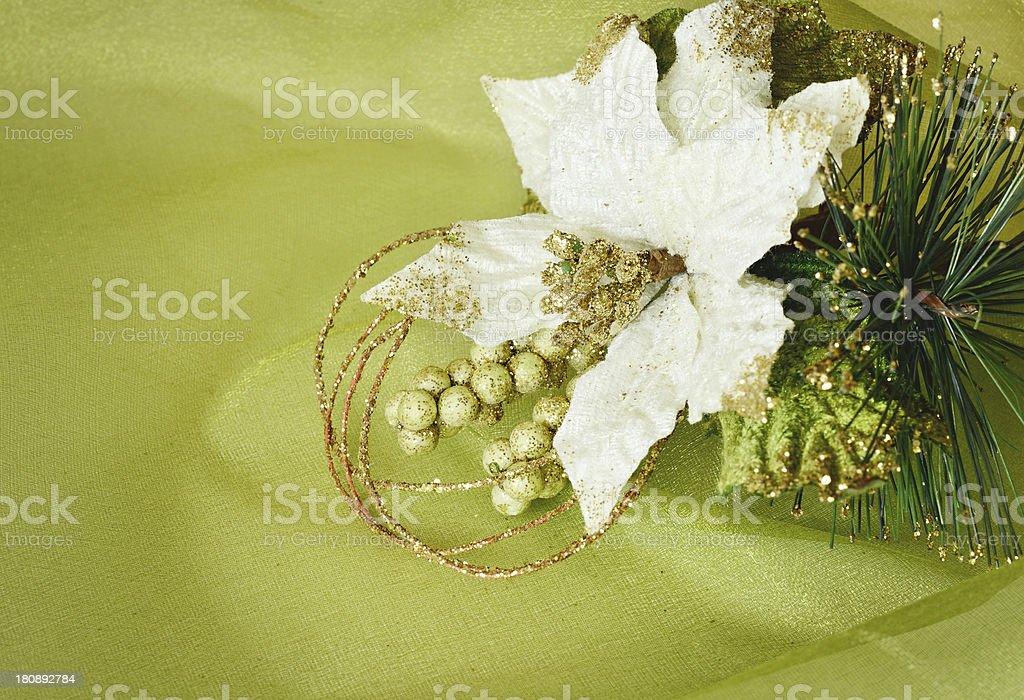 Textile white poinsettia royalty-free stock photo