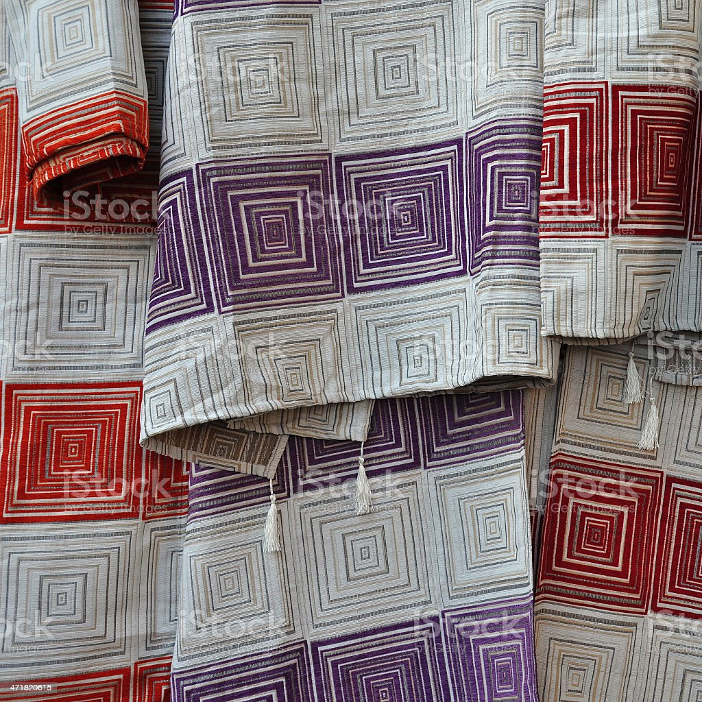 textile with squares pattern royalty-free stock photo