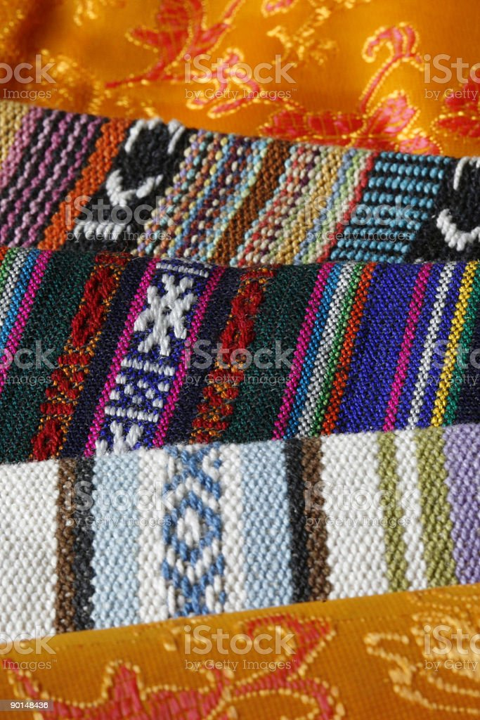 textiles from Sikkim, India royalty-free stock photo
