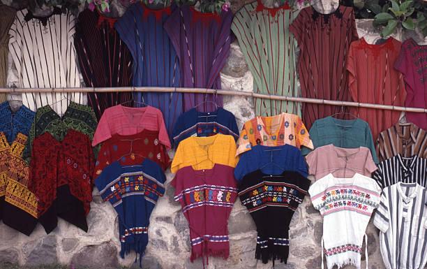 Textiles Guatemala stock photo