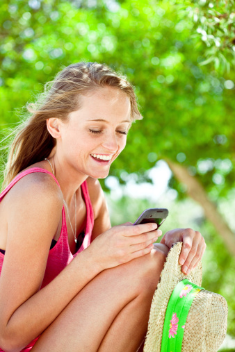 Texting A Message Stock Photo - Download Image Now