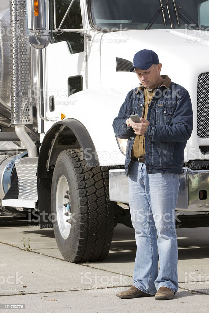 Texting and Transportation royalty-free stock photo