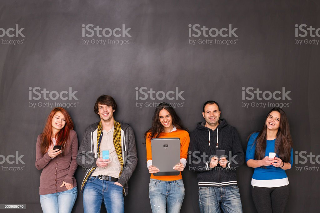 Texting BIG stock photo