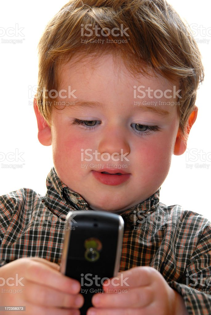 Texting Boy royalty-free stock photo
