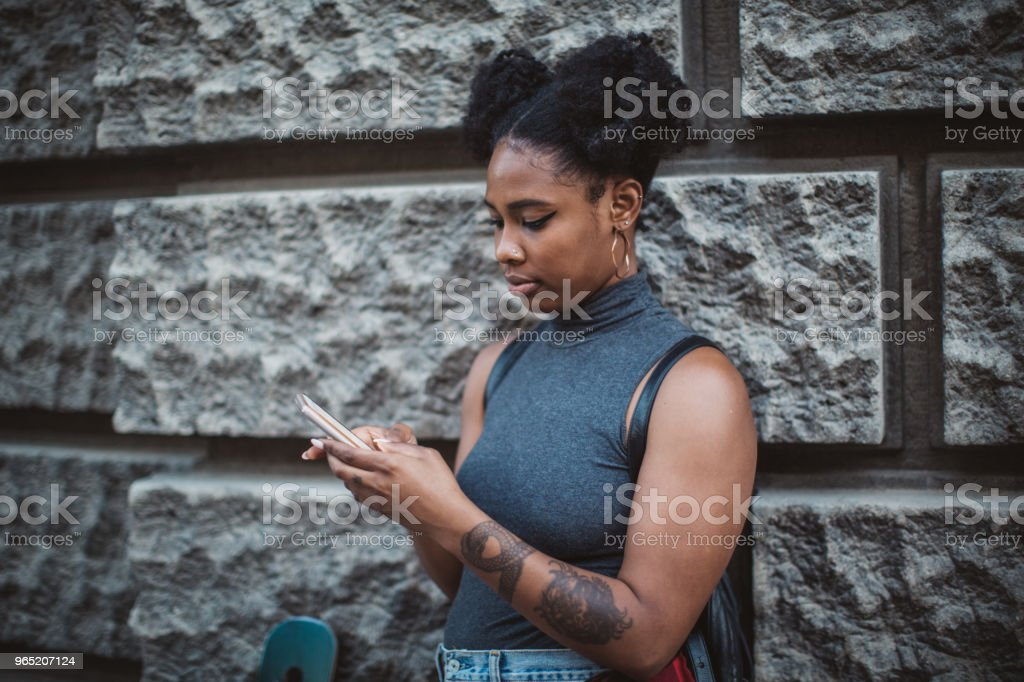 Texting friend royalty-free stock photo