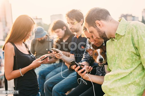 istock Texting in the city 598802278